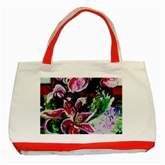 Lilac And Lillies 3 Classic Tote Bag (red) by bestdesignintheworld