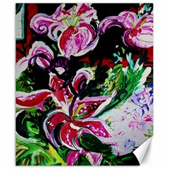 Lilac And Lillies 3 Canvas 20  X 24   by bestdesignintheworld
