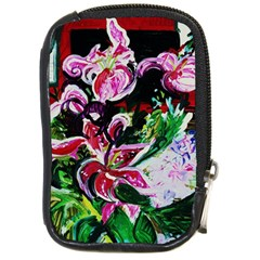 Lilac And Lillies 3 Compact Camera Cases by bestdesignintheworld