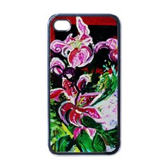 Lilac And Lillies 3 Apple Iphone 4 Case (black) by bestdesignintheworld