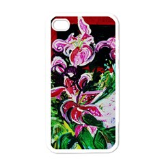 Lilac And Lillies 3 Apple Iphone 4 Case (white) by bestdesignintheworld