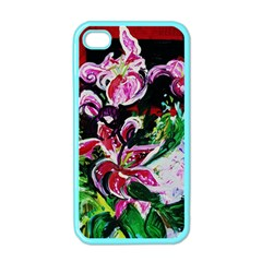 Lilac And Lillies 3 Apple Iphone 4 Case (color) by bestdesignintheworld