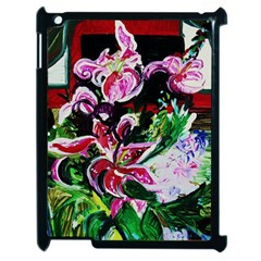 Lilac And Lillies 3 Apple Ipad 2 Case (black) by bestdesignintheworld