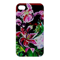 Lilac And Lillies 3 Apple Iphone 4/4s Premium Hardshell Case by bestdesignintheworld