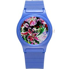 Lilac And Lillies 3 Round Plastic Sport Watch (s) by bestdesignintheworld