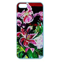 Lilac And Lillies 3 Apple Seamless Iphone 5 Case (color) by bestdesignintheworld