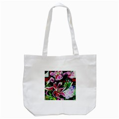 Lilac And Lillies 3 Tote Bag (white) by bestdesignintheworld