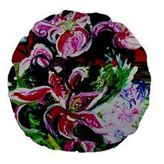 Lilac And Lillies 3 Large 18  Premium Flano Round Cushions