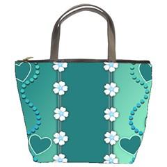 Design Texture Background Love Bucket Bags