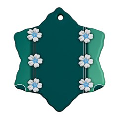 Design Texture Background Love Ornament (snowflake)