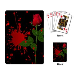 Background Texture Stain Playing Card
