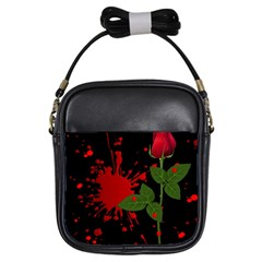 Background Texture Stain Girls Sling Bags