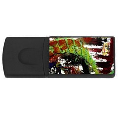 Collosium   Swards And Helmets 3 Rectangular Usb Flash Drive by bestdesignintheworld