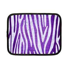 Skin4 White Marble & Purple Brushed Metal (r) Netbook Case (small)