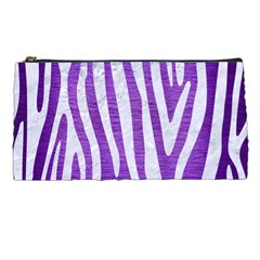 Skin4 White Marble & Purple Brushed Metal (r) Pencil Cases by trendistuff