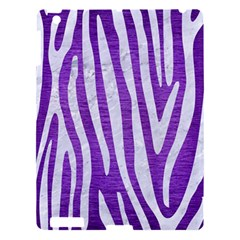 Skin4 White Marble & Purple Brushed Metal (r) Apple Ipad 3/4 Hardshell Case by trendistuff