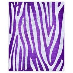 Skin4 White Marble & Purple Brushed Metal (r) Drawstring Bag (small)