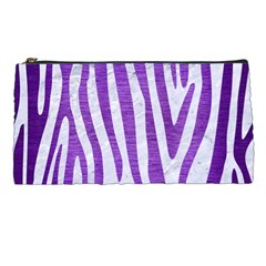 Skin4 White Marble & Purple Brushed Metal Pencil Cases by trendistuff