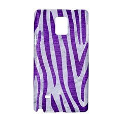 Skin4 White Marble & Purple Brushed Metal Samsung Galaxy Note 4 Hardshell Case by trendistuff