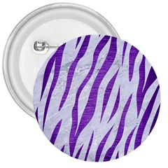 Skin3 White Marble & Purple Brushed Metal (r) 3  Buttons