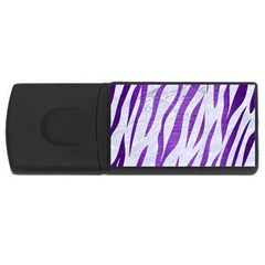 Skin3 White Marble & Purple Brushed Metal (r) Rectangular Usb Flash Drive