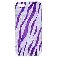 Skin3 White Marble & Purple Brushed Metal (r) Apple Iphone 5 Hardshell Case