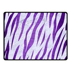 Skin3 White Marble & Purple Brushed Metal (r) Double Sided Fleece Blanket (small)