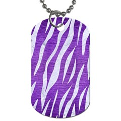 Skin3 White Marble & Purple Brushed Metal Dog Tag (one Side)