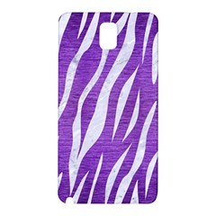 Skin3 White Marble & Purple Brushed Metal Samsung Galaxy Note 3 N9005 Hardshell Back Case by trendistuff