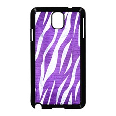 Skin3 White Marble & Purple Brushed Metal Samsung Galaxy Note 3 Neo Hardshell Case (black)