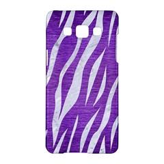 Skin3 White Marble & Purple Brushed Metal Samsung Galaxy A5 Hardshell Case