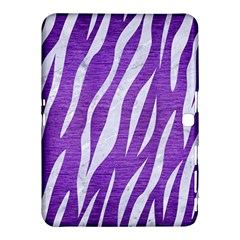 Skin3 White Marble & Purple Brushed Metal Samsung Galaxy Tab 4 (10 1 ) Hardshell Case  by trendistuff