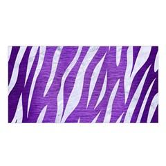 Skin3 White Marble & Purple Brushed Metal Satin Shawl