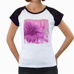 Flower Design Romantic Women s Cap Sleeve T