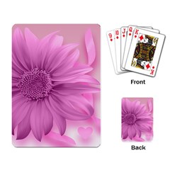Flower Design Romantic Playing Card