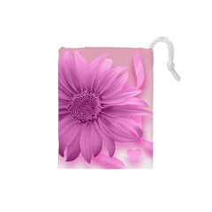 Flower Design Romantic Drawstring Pouches (small)