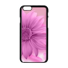 Flower Design Romantic Apple Iphone 6/6s Black Enamel Case by Sapixe