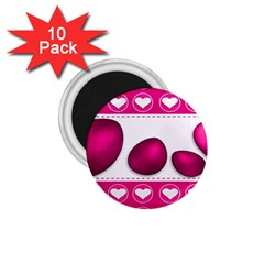 Love Celebration Easter Hearts 1 75  Magnets (10 Pack)