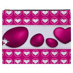 Love Celebration Easter Hearts Cosmetic Bag (xxxl)