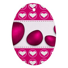 Love Celebration Easter Hearts Ornament (oval)