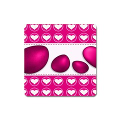 Love Celebration Easter Hearts Square Magnet by Sapixe