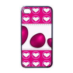Love Celebration Easter Hearts Apple Iphone 4 Case (black)