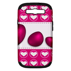 Love Celebration Easter Hearts Samsung Galaxy S Iii Hardshell Case (pc+silicone) by Sapixe