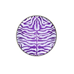 Skin2 White Marble & Purple Brushed Metal (r) Hat Clip Ball Marker
