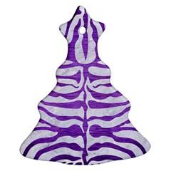 Skin2 White Marble & Purple Brushed Metal (r) Ornament (christmas Tree)