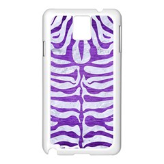 Skin2 White Marble & Purple Brushed Metal (r) Samsung Galaxy Note 3 N9005 Case (white)