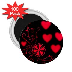 Background Hearts Ornament Romantic 2 25  Magnets (100 Pack)