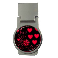 Background Hearts Ornament Romantic Money Clips (round)