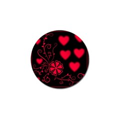 Background Hearts Ornament Romantic Golf Ball Marker (4 Pack)