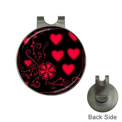 Background Hearts Ornament Romantic Hat Clips With Golf Markers